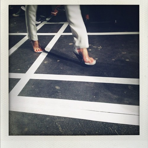 Transparent shoes at Givenchy  (Taken with Instagram)