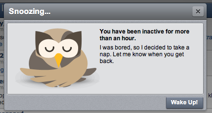 Hootsuite strikes again. It starts snoozing, because of boredom. Awwww…