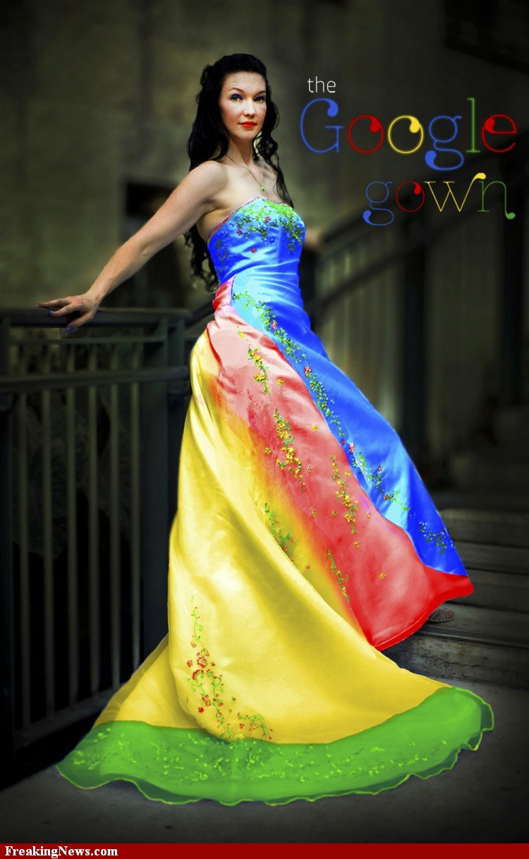 Hi ladies!! Have a look at the Google gown! :) (via Google gown from FreakingNews)