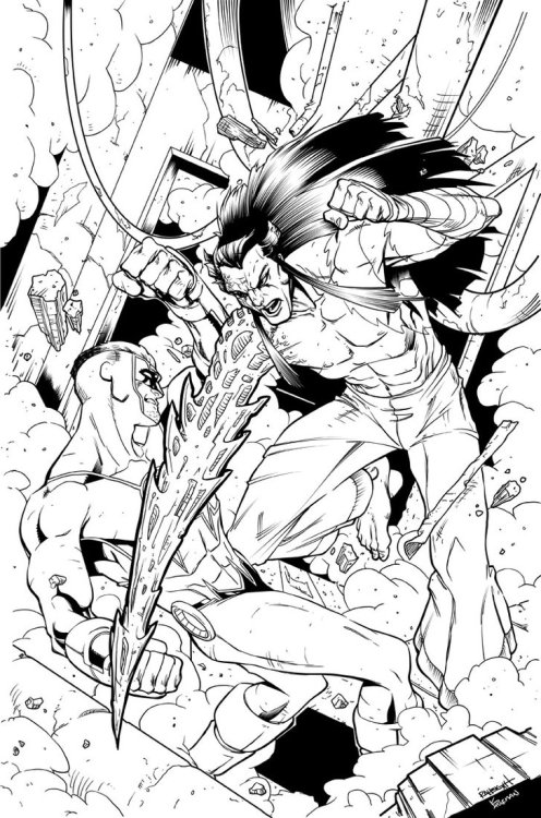 Watchguard Cover Inks by *IanDSharman WatchGuard, Teen Force 5, all related characters & indicia © Charlie McElvy, 2012. ARR.