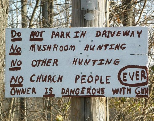 no church people ever