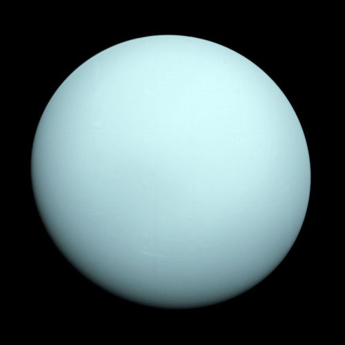 klaumich:  Image of the planet Uranus taken by the spacecraft Voyager 2 in 1986.