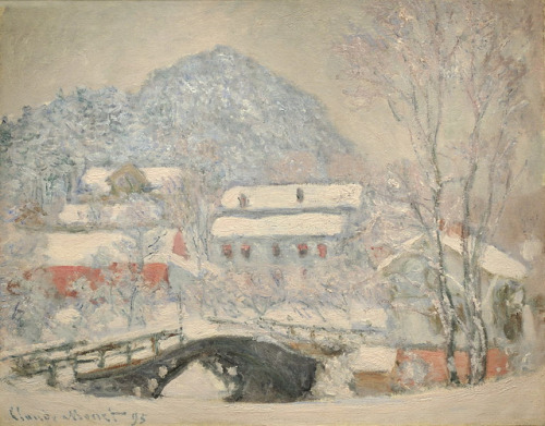 Claude Monet   Le village de Sandviken sous la neige Norvège by Daniel Abel (artiste peintre & photographe) on Flickr.