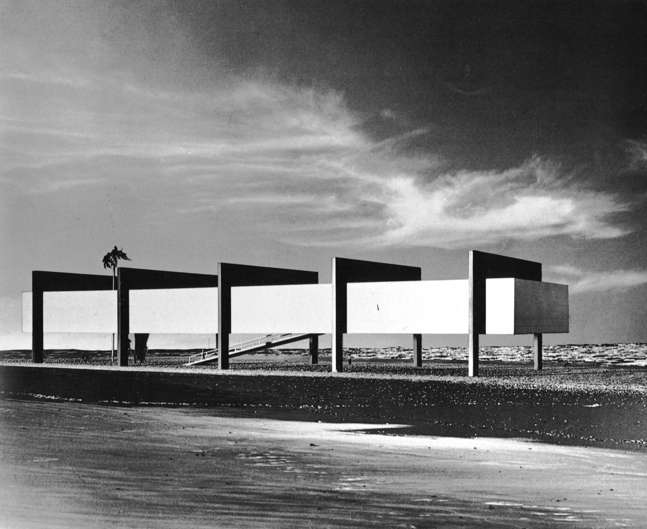 aligntrinity:  Museum On The Seashore Project, Brazil, 1951 Lina Bo Bardi http://www.guardian.co.uk/artanddesign/2012/sep/09/lina-bo-bardi-together-review