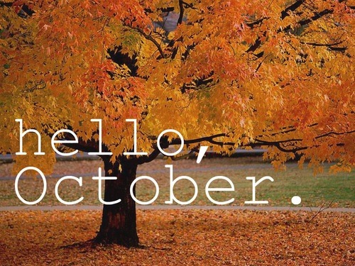 latinbeauty22:  Hello, Hi October Goodbye September Quote inspired by Rita Ora's song Hello, Hi Goodbye Pretty creative right! Song - http://youtube.com/watch?v=OBqSuZmkFh8