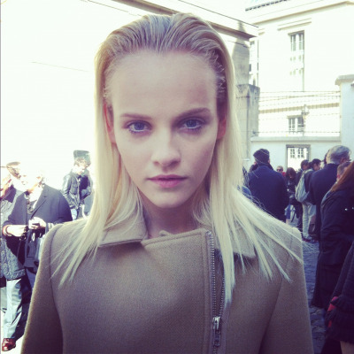 More fresh faces @GiambattistaPR courtesy of @GintaLapina89. Swoon. #PFW
