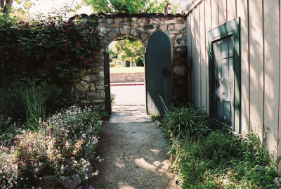 le4f:  Monterey, garden gate of W.T. Sherman's quarters by 97213 on Flickr.
