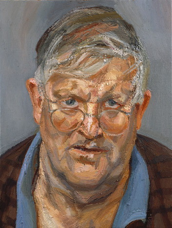 Lucian Freud, David Hockney, 2002