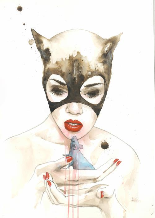 assorted-goodness:  Catwoman - by Lora Zombie Artist: Website || DeviantART || Facebook