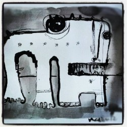 MONSTRA is here! www.mellonfineart.com/monstra.htm #monsters #drawing # ink #October  (Taken with Instagram)