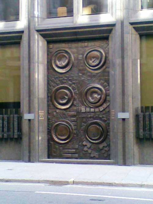 Door, Bank of England, London  H.A.