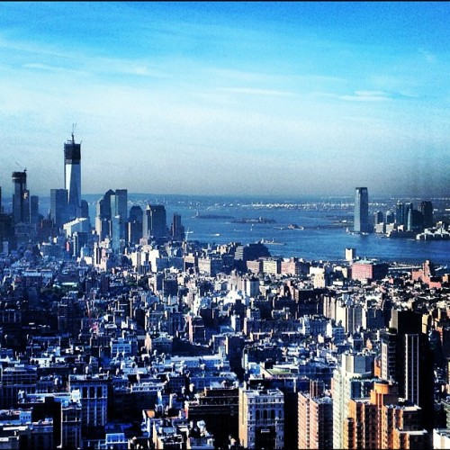 How I started work today.  (Taken with Instagram at Empire State Building)