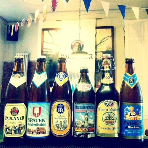 Oktoberfestbier is here and we have all six in bottles and 2 on Draught. (Taken with Instagram)
