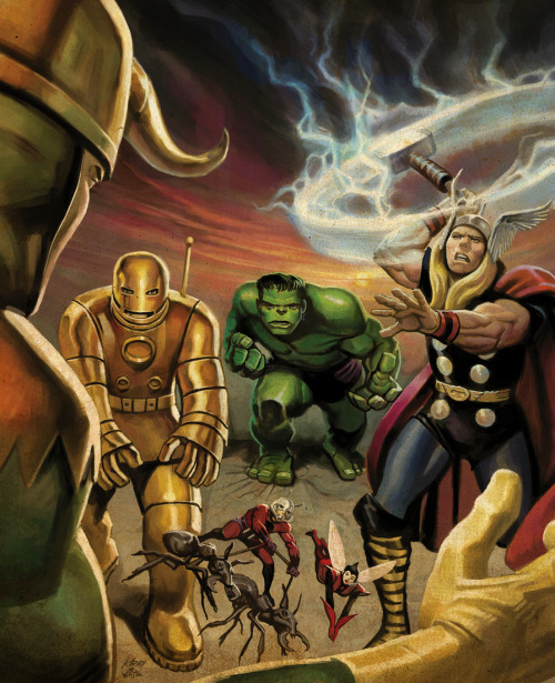 The Avengers Battle Loki