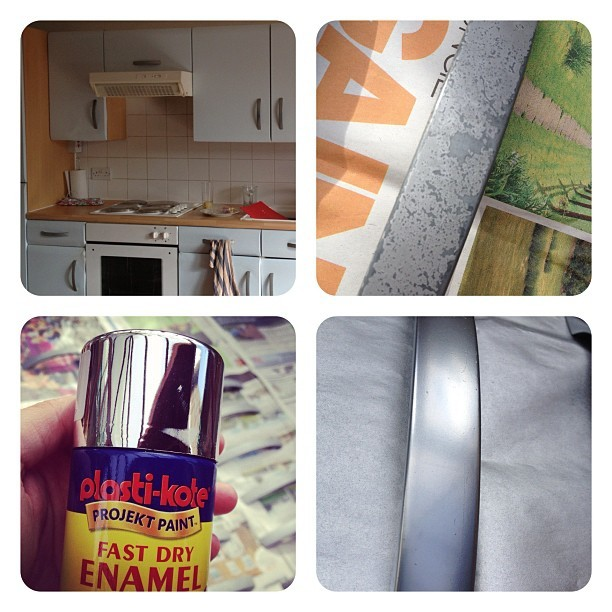 #DIY Project. I made over my old cupboard handles with some £3.50 spray paint. Good as new! (Taken with Instagram)