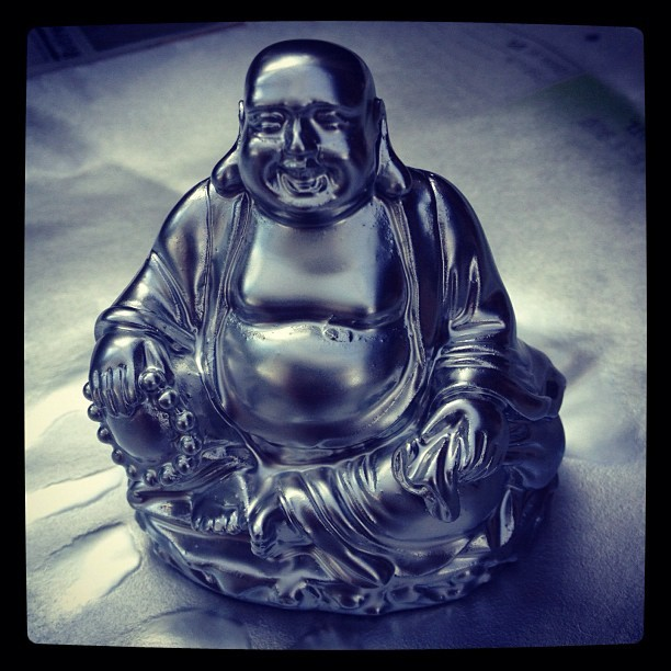 Also made a metallic Buddha to go with my pink one with the leftover paint (Taken with Instagram)