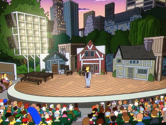 theatermania:  Shakespeare in The Park Stars on The Simpsons