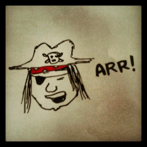 Feling pirate today… Arrr! #piate #arrr #illustration #ink #character #koxhinis (Taken with Instagram)
