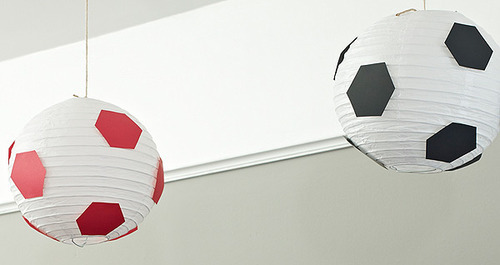 Soccer Ball Hanging Lanterns
