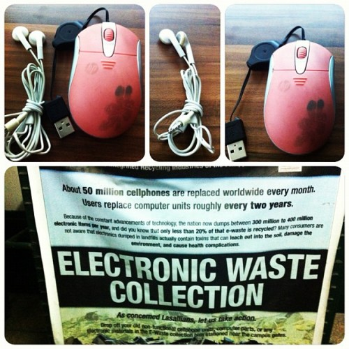 E-Waste can be a serious threat if it is not handled properly. By proper recycling of e-waste we can save a lot of energy and valuable natural resources. #gogreen #thinkgreen  (Taken with Instagram)