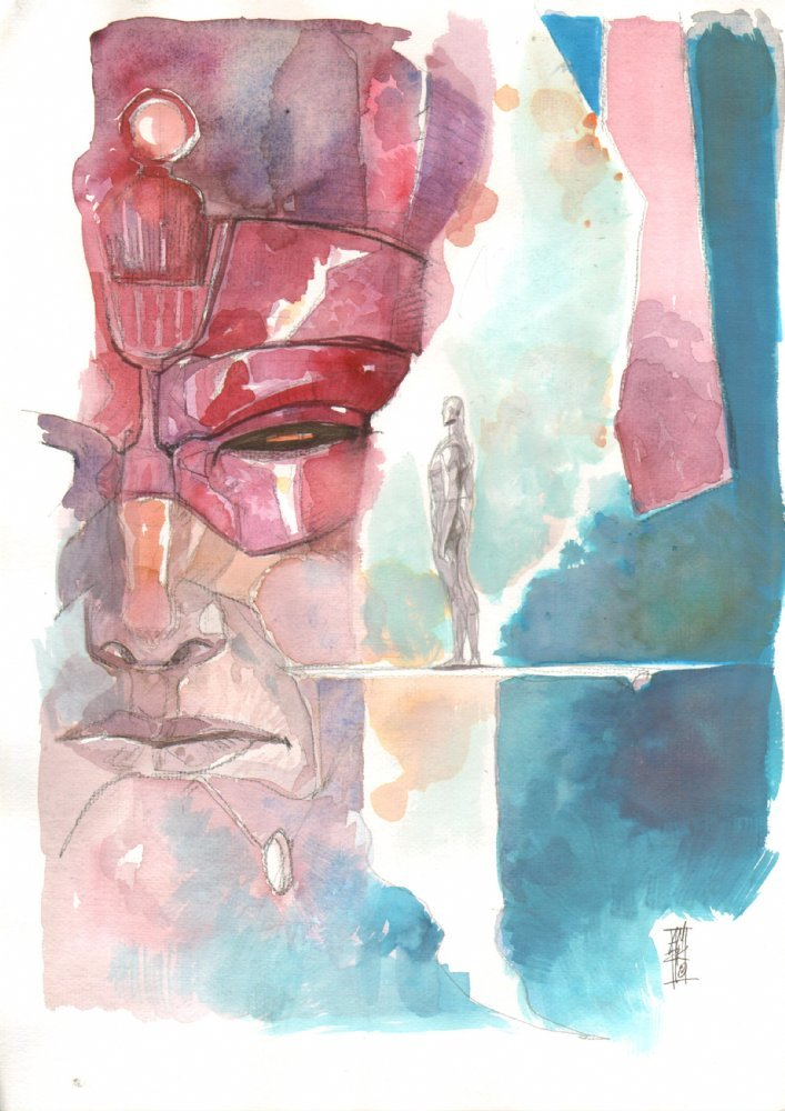 Galactus & the Silver Surfer by Alex Maleev