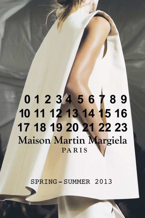 maisonmartinmargiela-official:  Pictures of the Maison Martin Margiela Spring-Summer 2013 women's fashion show are on Facebook. Check them out.