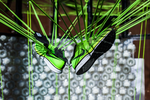 Nike Flyknit as part of Arthur Huang's Feather Pavilion during Beijing Design Week.
