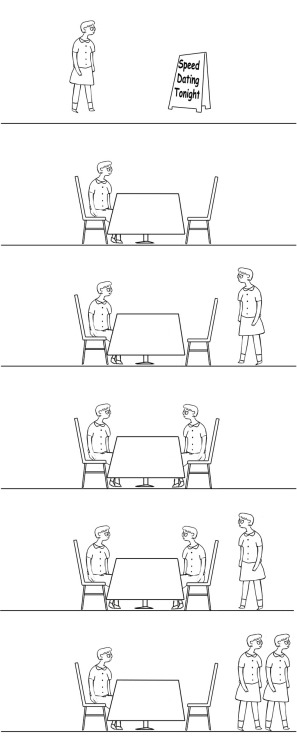 """The Awkward Date"" Comic by NickLatimeR Visual REsource by rejjie == jared (Producer) writes: OK. This one is funny and needs to be animated. :)  == You can contribute to the ""Awkward"" collaboration HERE!"