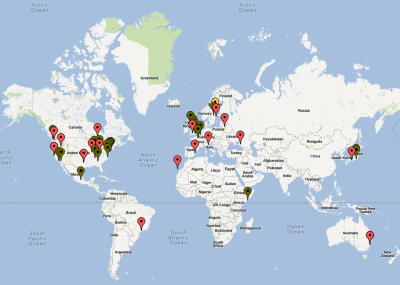 2012 | BLAG map We'll be updating the BLAG map soon, if you have the special edition, email us your city and shout out and we'll feature you on it. Thanks!