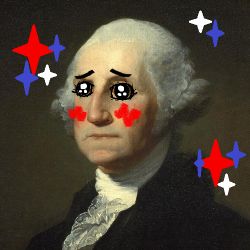 stawrr asked kawaiiproject:  kawaii george washington ;3 ~Kawaii-sensei
