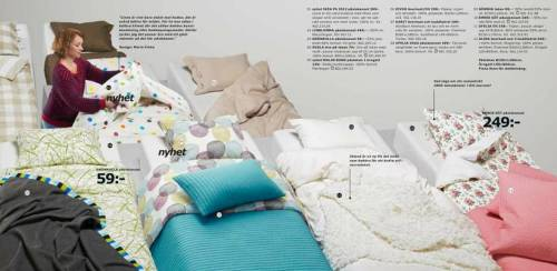 "norwaydude87:  Ikea prints 208 million catalogs in 43 countries every year. They are all the same, except in Saudi Arabia, where women have been Photoshopped out because their photos ""show too much skin,"" according to the Islamic Kingdom's laws. And it's not the only thing that gets altered.  A woman who is having dinner with her husband around a dinner table was completely removed, replaced by an empty table. Another one cleaning her teeth with her son, shown above, was eliminated. Even one of the Ikea employees presenting the catalog—Clara Gausch, one of the four designers—was erased with Photoshop. The other three designers are all there. They are all male. The censorship is not only about women: wine glass gets translated to ""festive glass"" because you can't have alcohol in Saudi Arabia. Festive glasses are for Diet Coke only. Not our fault, says Ikea Ikea argues that it is not their fault: the Saudi Arabia catalog is published by a franchise. But they regret they haven't acted before it was too late, said Ikea spokeswoman Sara Carlsson. ""We should have reacted and acknowledge that eliminating women in Saudi Arabia version [of the catalog] conflicts with Ikea's values."" But this it not the first time this has happened: another woman was deleted from a catalog in the early 90s because, even while she was dressed properly with pants and a long skirt, she was considered lazy. Her sin: she was lying down on a sofa, enjoying a book. According to Anne-Marie Colliander Lind, one of the translators for that catalog, only women performing chores like attending the stove or cleaning dishes were allowed. Anything else was considered a problem. Swedish Commerce Minister Ewa Björling found the censorship sad, arguing that ""you can't push women away from reality"" and that ""this is a sad example of how far Saudi Arabia is from gender equality."" [Metro (in Swedish)"