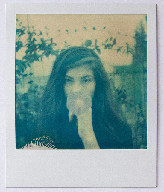 Rachel on Flickr.Portrait of Rachel  Polaroid sx70