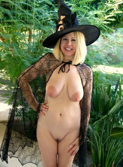 Do you like my nudist witch Halloween costume? It's October, Halloween is coming. Dare to bare in your Halloween costume this year like. It's much more fun!  MC http://terracottainnblog.com Feel free to reblog showing nudists have the most fun!