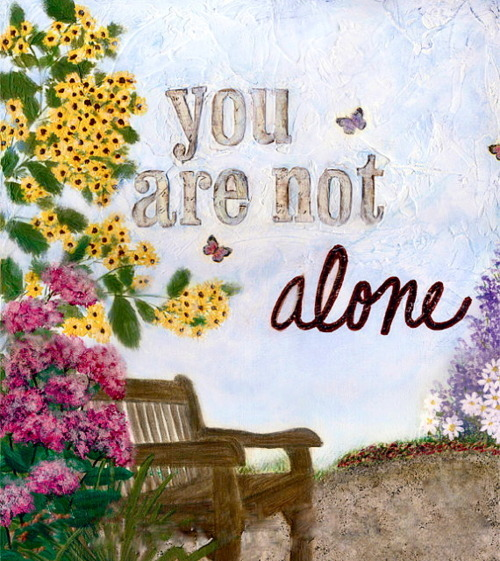 herewecollide:  You are not alone.