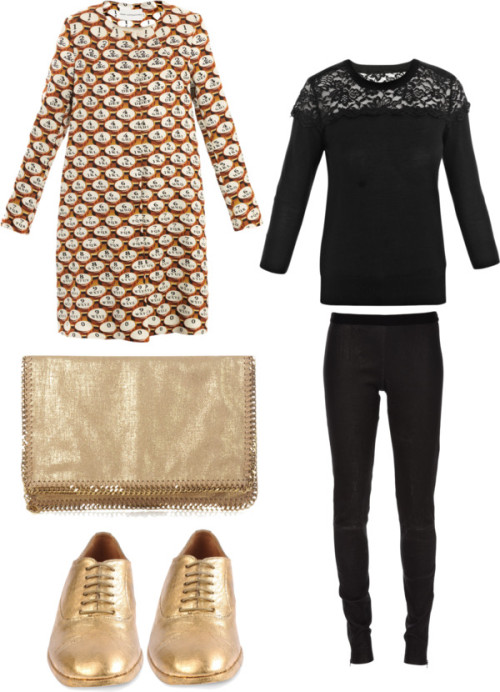 Casual Monday Outfit by gucci80 featuring maison martin margielaErdem lace topmatchesfashion.comMary katrantzoumatchesfashion.comDrome leather pants$630 - farfetch.comMaison martin margielathecorner.comStella mccartneymatchesfashion.com