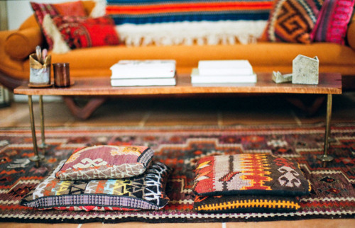 Beautiful combination of prints & colors clubmonaco: Kilim Pillows
