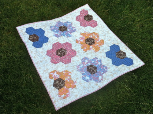 Finished! Grandmothers Flower Garden Cot Quilt. Now available in my folksy shop  http://folksy.com/shops/samanthamakes