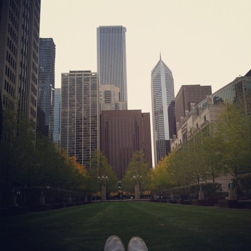 Laying in a field no big deal #sixandthecity #chicago  (Taken with Instagram)
