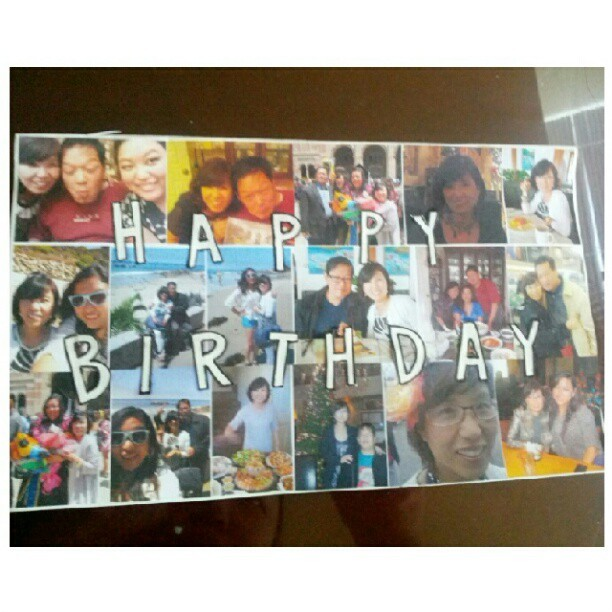 Birthday card for my momma #birthday #card #mommy  (Taken with Instagram)