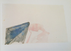 eyequeue:  Joseph Beuys Nature, 1947 pencil and watercolor 6.5 x 10.75 inches