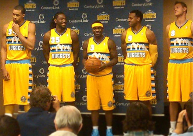 nbaoffseason:  The new Nuggets alternate jerseys.