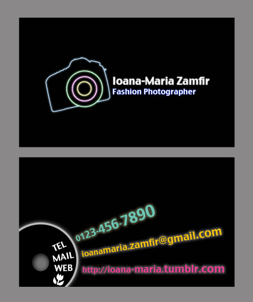 Business card design exercise.