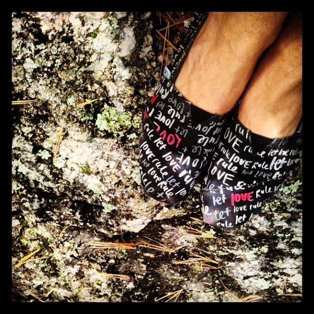 Walks along Pink Lake with @kikifrench #love #toms  (Taken with Instagram)