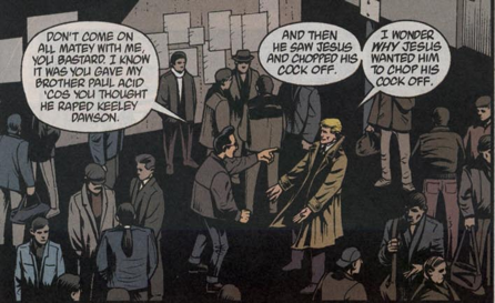john constantine really does not like rapists  Which is fucking hilarious, considering.