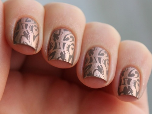 spektorsnails:  Stamping with Essie Penny Talk & Catrice Lost In Mud