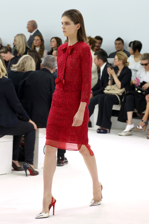 First Lady Kel Markey. Giambattista Valli S/S 13, Paris.