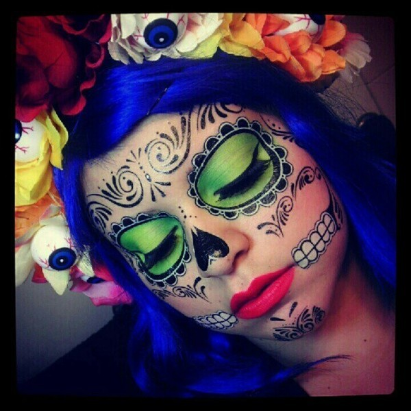 beautylish:  Check out Angie M.'s awesome Day of the Dead look!