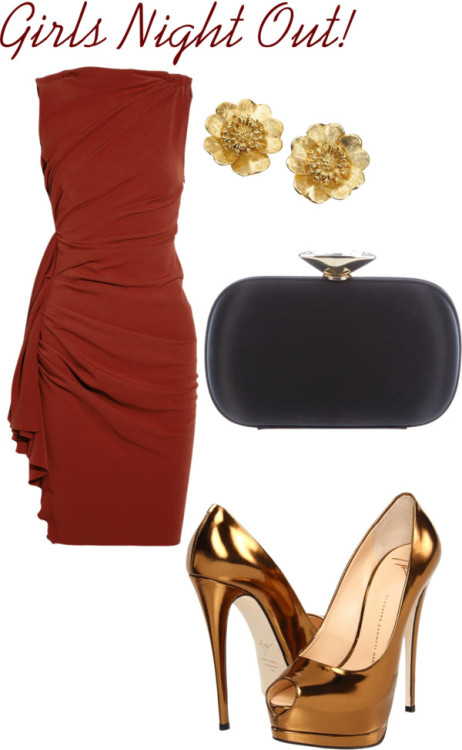 Girls Night Out by gucci80 featuring 18k gold jewelryLanvin dressnet-a-porter.comGiuseppe Zanotti leather pumpscouture.zappos.comGiuseppe Zanotti clutch purse$1,035 - farfetch.com18k gold jewelryscullyandscully.com