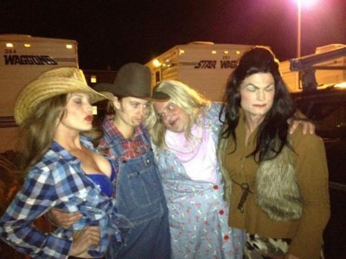 The Longmire Cast….ready for Halloween? (via Katee's facebook page)