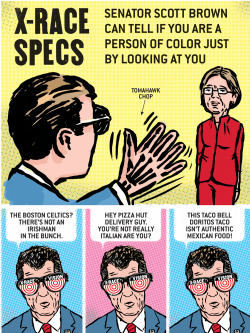 American Affairs Desk Comic: Scott Brown X-Race Specs